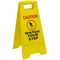 Watch Your Step Caution Sign Yellow