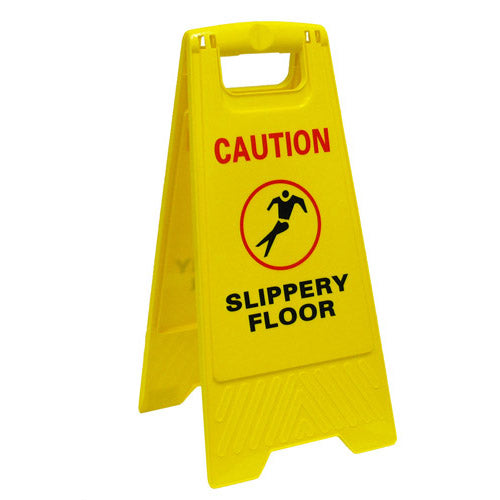Slippery Floor Caution Sign Yellow