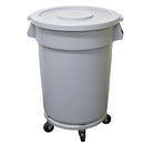 76 Litre Flat Lid Rubbish Bin Complete with Wheels