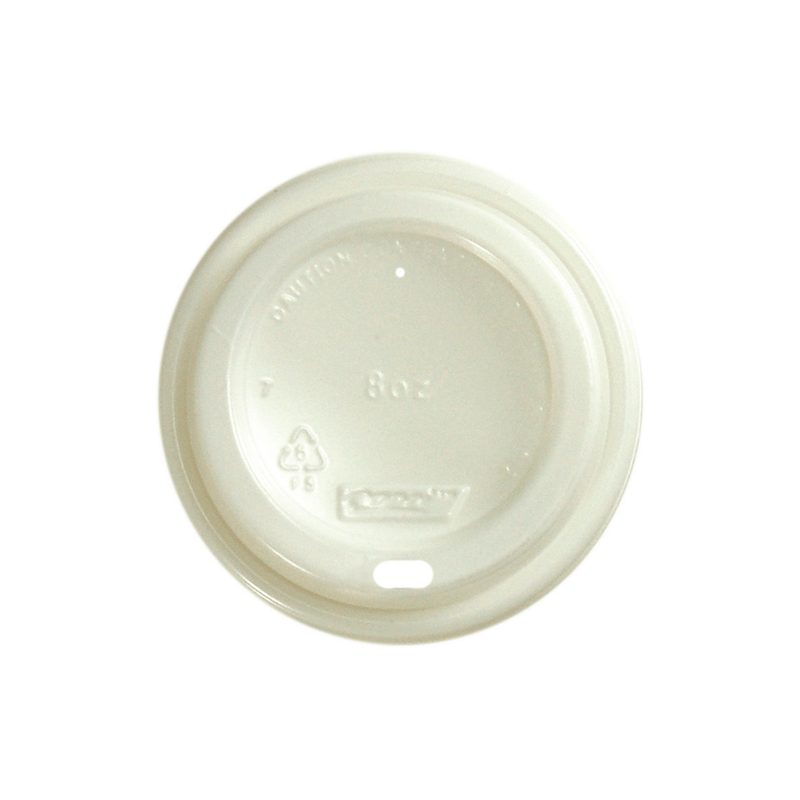 8oz Single Wall White Coffee Cup Lid