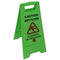 Caution Wet Floor / Cleaning in Progress Caution Sign Green