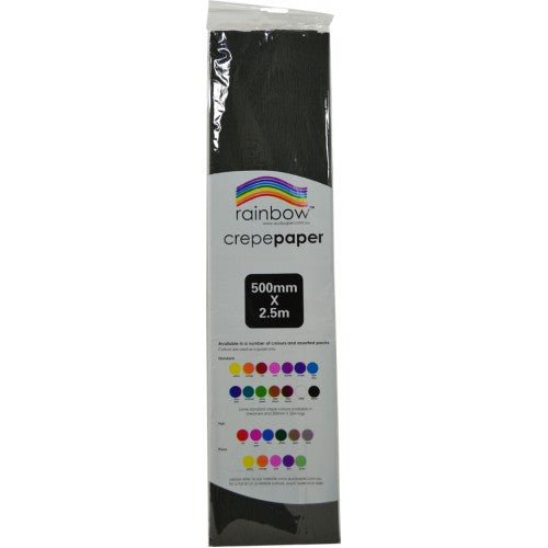 Rainbow Crepe Tissue Paper Black