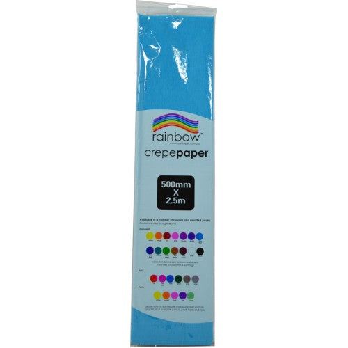 Rainbow Crepe Tissue Paper Light Blue
