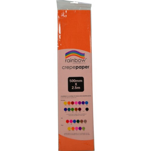 Rainbow Crepe Tissue Paper Orange