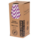 Eco-Straw - Paper Regular - 2500 Pack (10x250) - Purple/White - FSC Mix 70%
