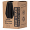 Eco-Straw - 3ply Paper Cocktail Straw - 2500 Pack (10x250) - Plain Black - FSC Mix 70%