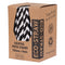 Eco-Straw - 3ply Paper Cocktail Straw - 2500 Pack (10x250) - Black/White - FSC Mix 70%