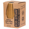 Eco-Straw - 3ply Paper Cocktail Straw - 2500 Pack (10x250) - Kraft Brown - FSC Mix 70%