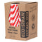 Eco-Straw - 3ply Paper Cocktail Straw - 2500 Pack (10x250) - Red/whi - FSC Mix 70%