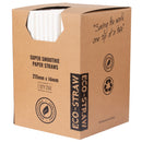 Eco-Straw - Paper Super Smoothie - 1000 Pack (4x250) - White FSC Mix 70%