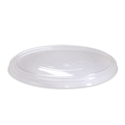 184mm PET Clear Flat Lid for 30/40oz Bamboo Bowls - 184mm - 200 Carton
