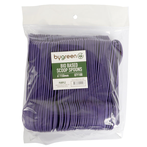 Bygreen Scoop Spoon - Bio-Based - 1000 Pack (10x100) - Purple