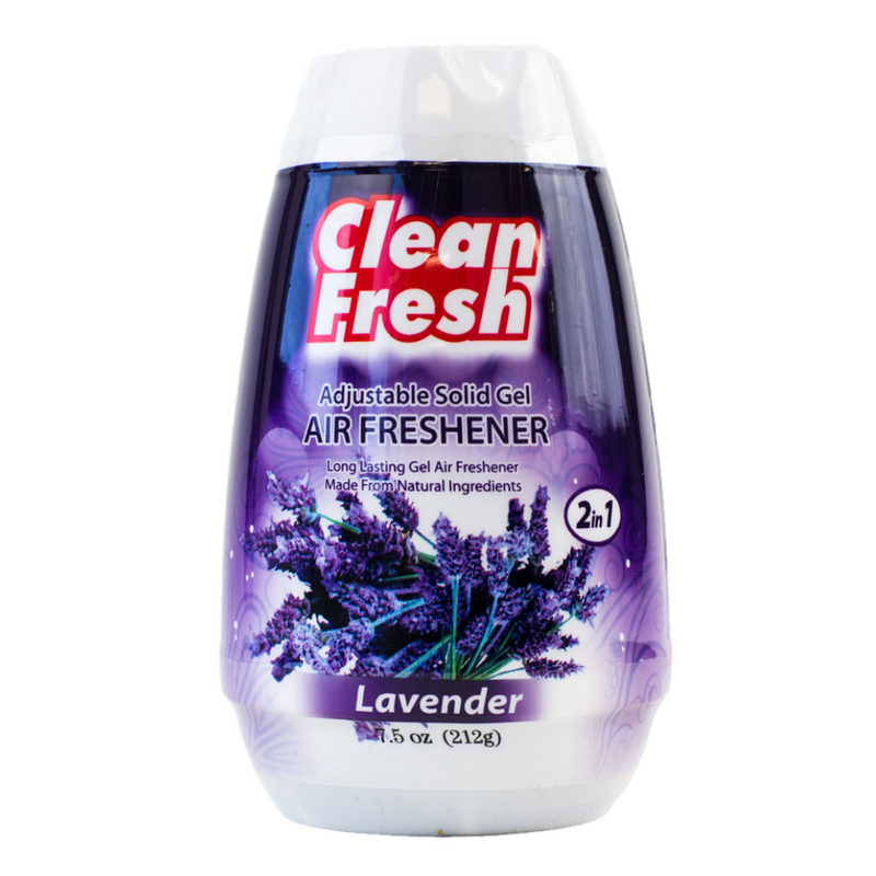 Clean Fresh Natural Solid Gel Air Fresheners - Lavender
