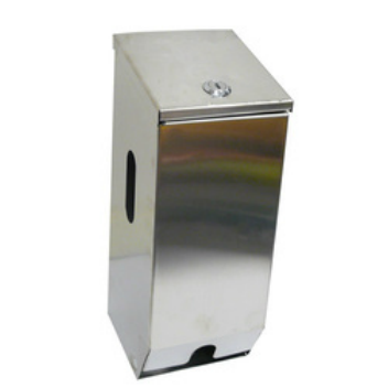 Stainless Steel Double Toilet Roll Dispenser With Key