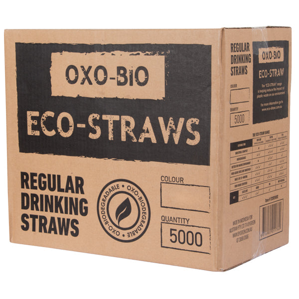 Eco-straw - Oxo Bio Regular Straw - Black - 5000