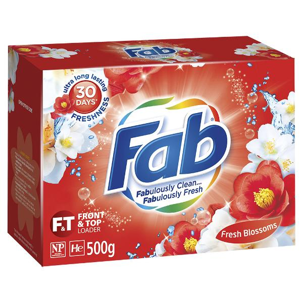 Fab Fresh Front & Top Loader Laundry Powder Blossoms 500g