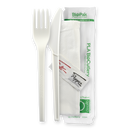 Biopak Bioplastic Knife, Fork, Napkin, Salt & Pepper Set 250 Pack