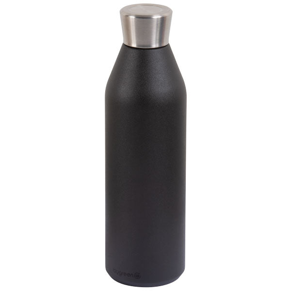 Go Green - Reusable Drink Bottle - Stainless Steel - 600ml D/wall - Slate - 24 Bottles