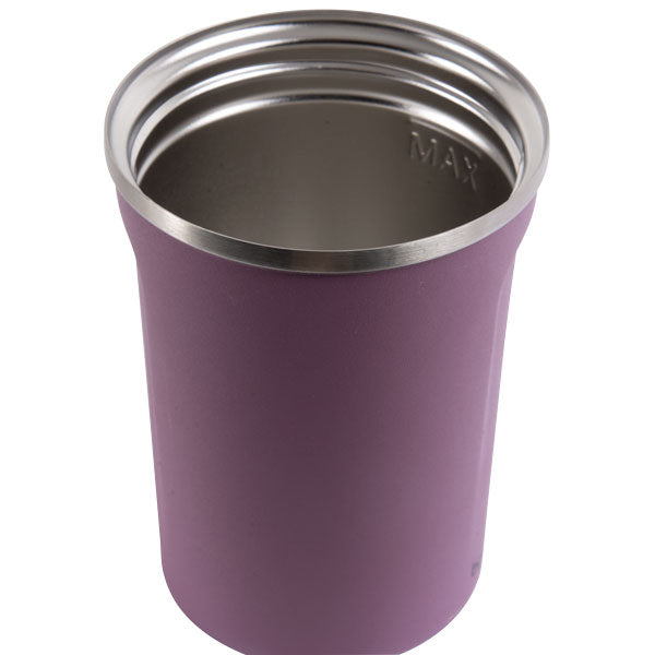 Go Green - Reusable Coffee Cup - Stainless Steel - 380ml D/wall - Berry - 24 Bottles