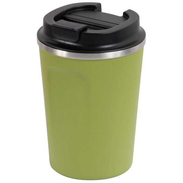 Go Green - Reusable Coffee Cup - Stainless Steel - 380ml D/wall - Olive - 24 Bottles