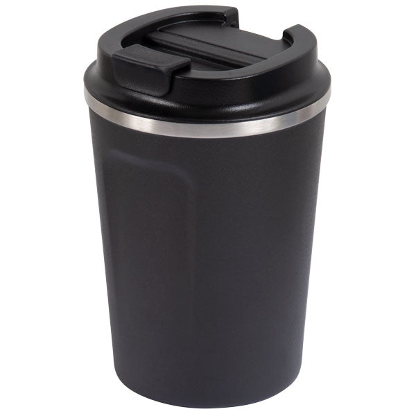 Go Green - Reusable Coffee Cup - Stainless Steel - 380ml D/wall - Slate - 24 Bottles