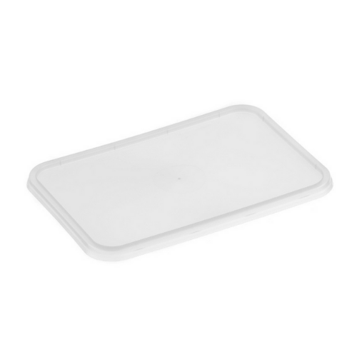 Genfac Plastic Rectangle Container Lid Suit. 500 - 1000ml