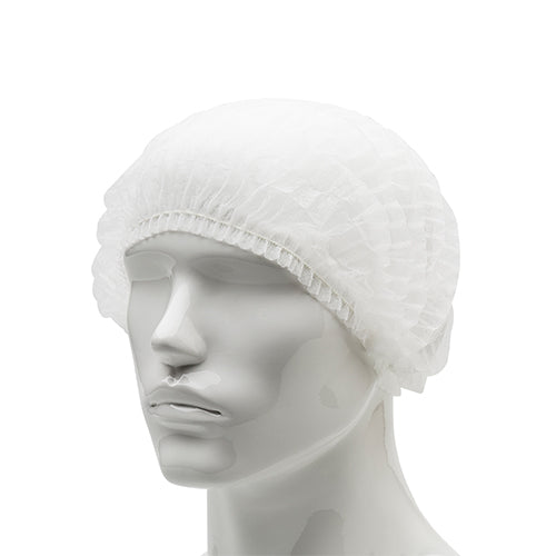 Mob Cap - Hair Net - Single Elastic - 21mm - White