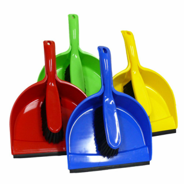 Plastic=Dustpan=Set=Blue