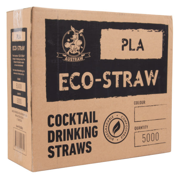 Eco-Straw - PLA Cocktail Straw - Natural White - 5000 Pack - New