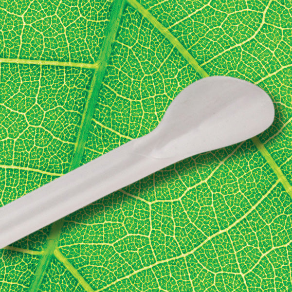 Eco-Straw - PLA Spoon Straw - Natural White - 2500 Pack (10x250)