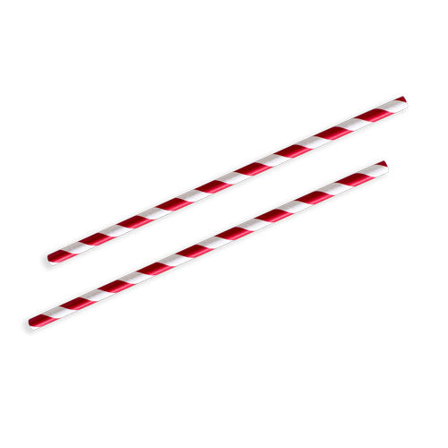 Red Striped Regular Paper Straws - 2,500 Pack