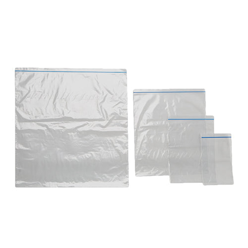 Press Seal Bag with Blue Zip Natural  530 x 550 mm