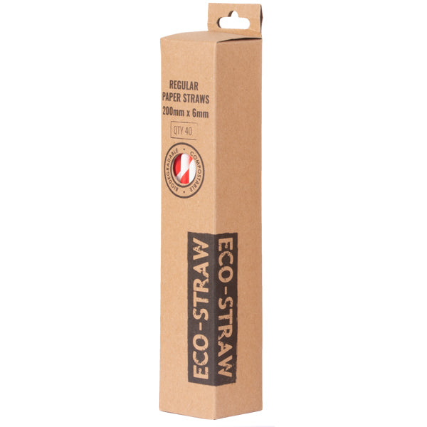 Eco-Straw 3ply Retail - Red/White - 1000 Pack (25x40) - FSC Mix 70%