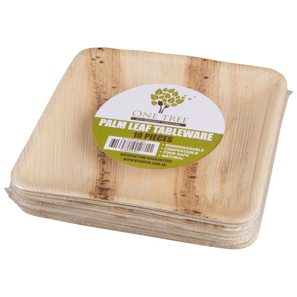 One Tree Palm Leaf Plate - Retail - Square Plate 180mm - 80 Pack