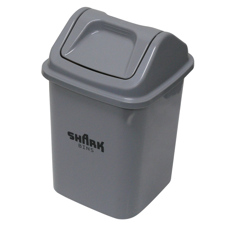 Tidy Bin 20L Grey with Flip top Lid