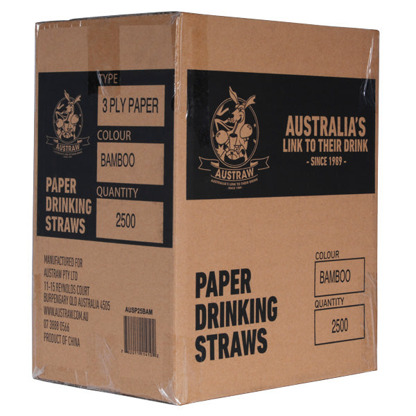 Eco-straw - Paper Regular - 2500 Pack (10x250) - Red/White - FSC Mix 70%