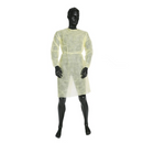 Impervious Level 3 Fluid Resistant Gown with Elastic Sleeves - Yellow - 10 pcs