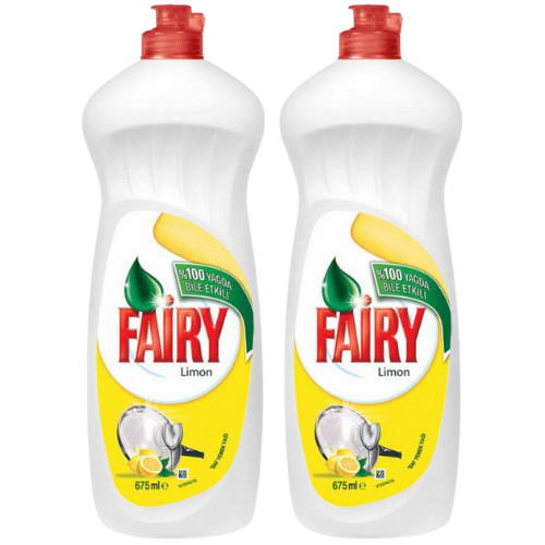 2 x Fairy Dishwashing Liquid Lemon - 675ml