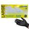 Hand Care Disposable Black Vinyl Gloves Powder Free Large 100 pieces