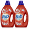 2 x Fab Fresh Front & Top Loader Washing Liquid Blossoms 1L