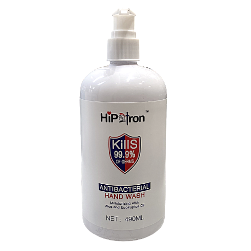 HipTron Antibacterial Hand Wash, Kills 99.9% of Germs - 490ml