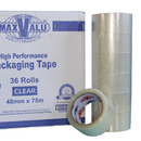 MaxValu Quality Packing Tape 48mm x 75m - Clear - 1 roll