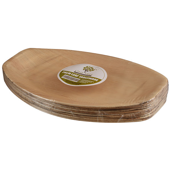 One Tree Palm Leaf Oval Platter 415 X 270mm - 100 Pack