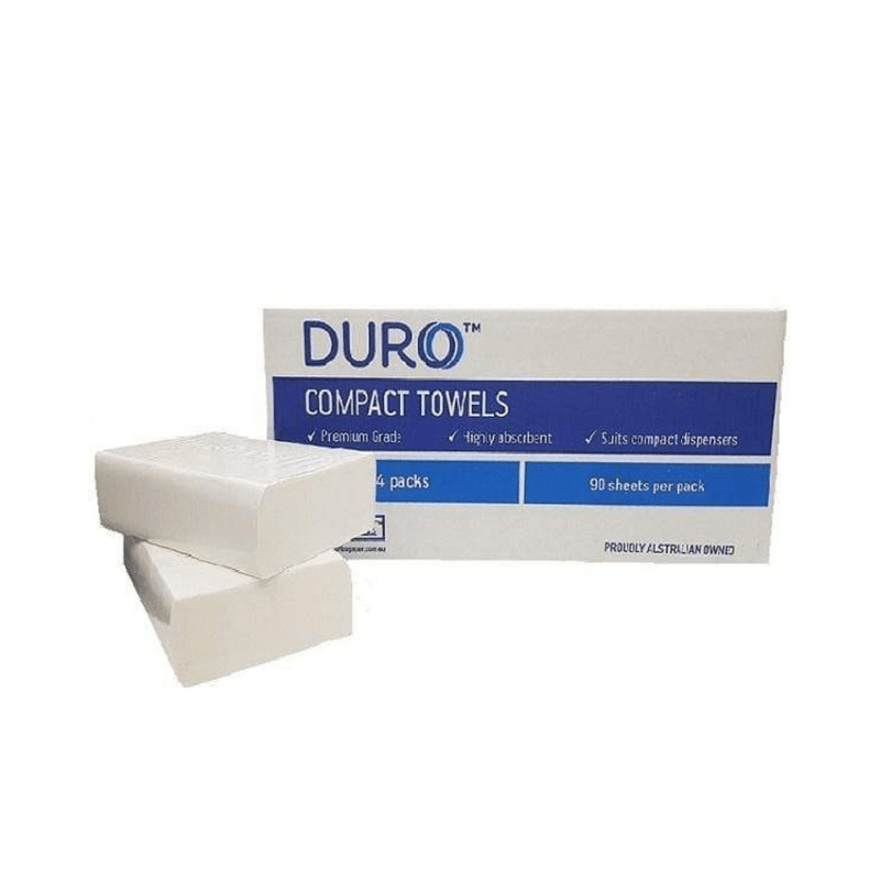 Duro Compact Interleaved Towel 120 Sheet, 20 Packet