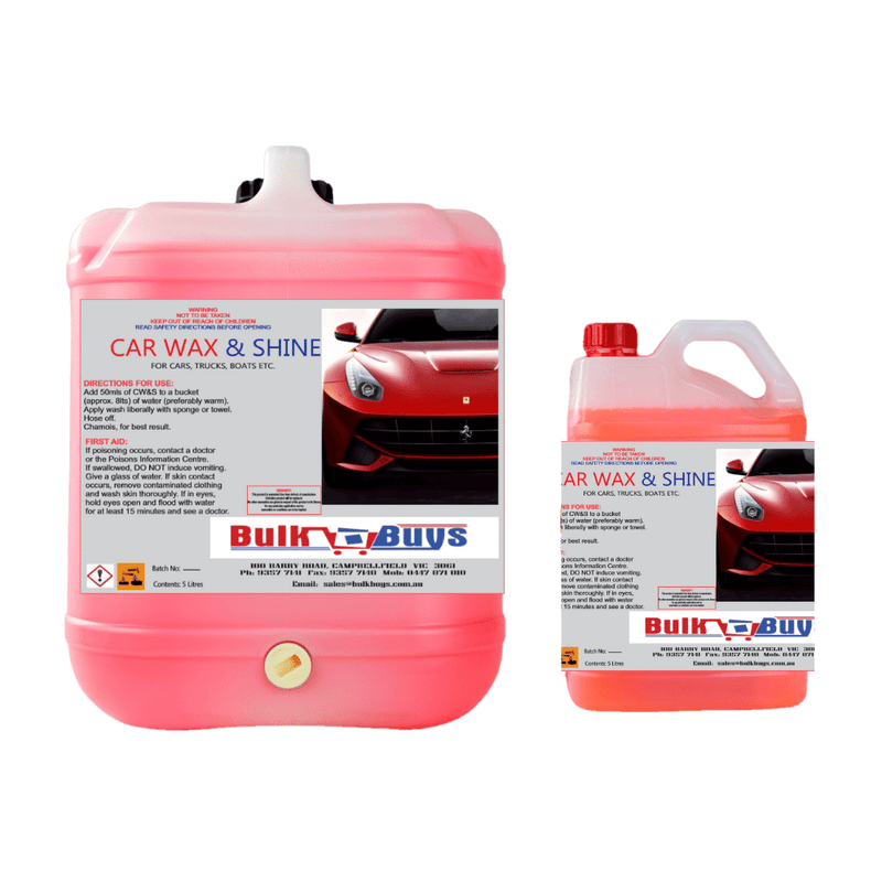 Wax & Shine Formula (Car, Truck or Boat) - 20LT or 5LT