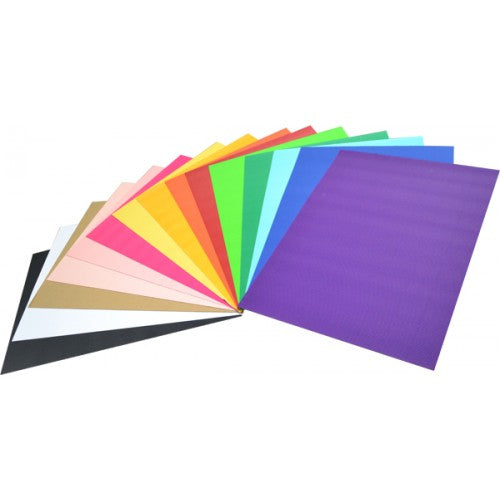 Rainbow Corrugated Board 2 Sided 500mm X 700mm 15 Sheets Assorted