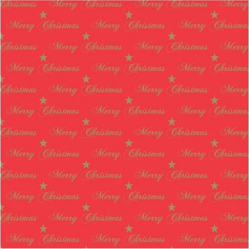 Rainbow Club Roll Prints 80GSM 38mm Core 500mm X 60m Gold Xmas Text