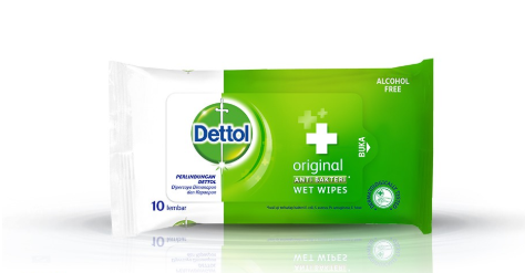 Dettol Antibacterial Wet Wipes (10 Sheets)