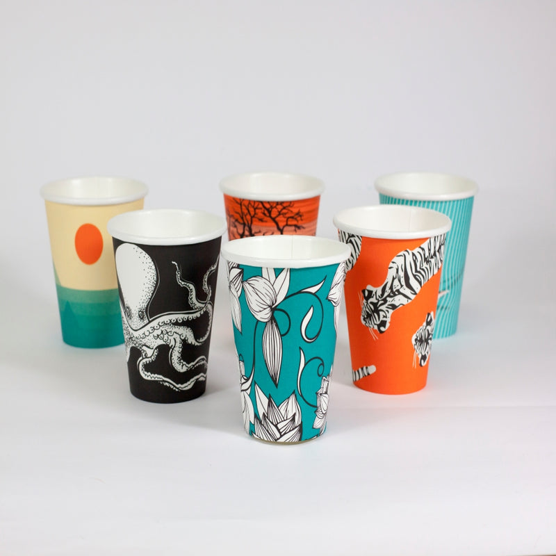 Envirochoice Coffee Cup Mix 8oz - (Patterns Vary)