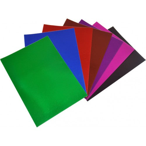 Rainbow Foil Board 270gsm 510mm X 630mm 20 Sheets Assorted